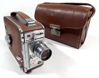 1950s Vintage Keystone Olympic K-32 USA 8mm Movie Film Camera With Case