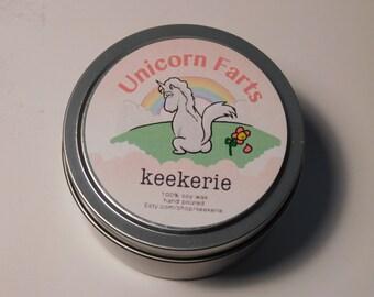 Unicorn Farts soy candle