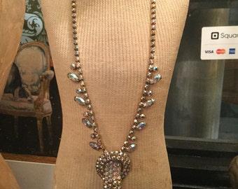 Ca. 1930s Mazer Style Swarovski Crystal Necklace