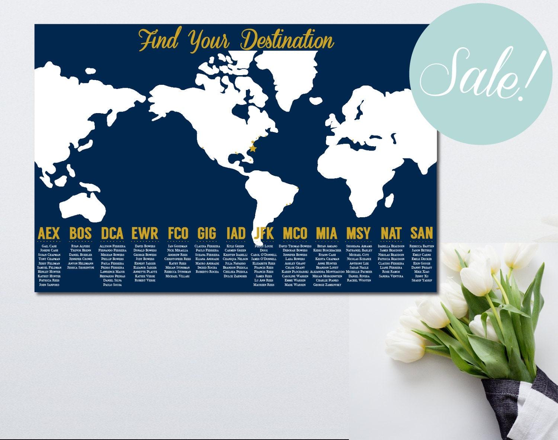 Printable seating chart travel themed wedding world map seating printable seating chart travel themed wedding world map seating chart travel themed seating chart poster find your seat poster gumiabroncs Choice Image