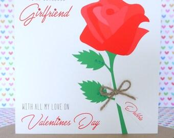 Personalised Handmade Valentine's Day Card, Husband, Wife, Boyfriend, Girlfriend