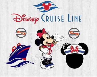 Disney Cruise SVG, DXF, Minnie Mouse Sailor Svg, Minnie Sailor Hat, Disney Cruise Ship, Mickey Mouse Ear, Cutting File, png,Instant Download