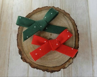 Red & Green mini bow (two mini bows)