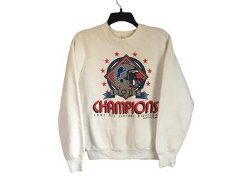 Vintage Detroit Lions 1991 Champions Crewneck Sweatshirt Small/Medium FREE SHIPPING!