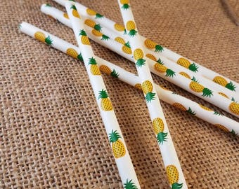 Luau party, pineapple party decorations, hawiian party, pineapple straws,