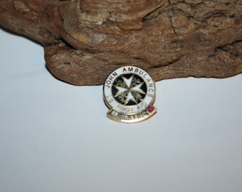 Saint John Ambulance First Aid Emergency Pin, Metal and Enamel Pin, Lapel Pin, Hat Pin, Emergency Workers Pin, Ambulance Workers, Nurse Gift