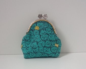 Purse in Cat and Yarn Pattern