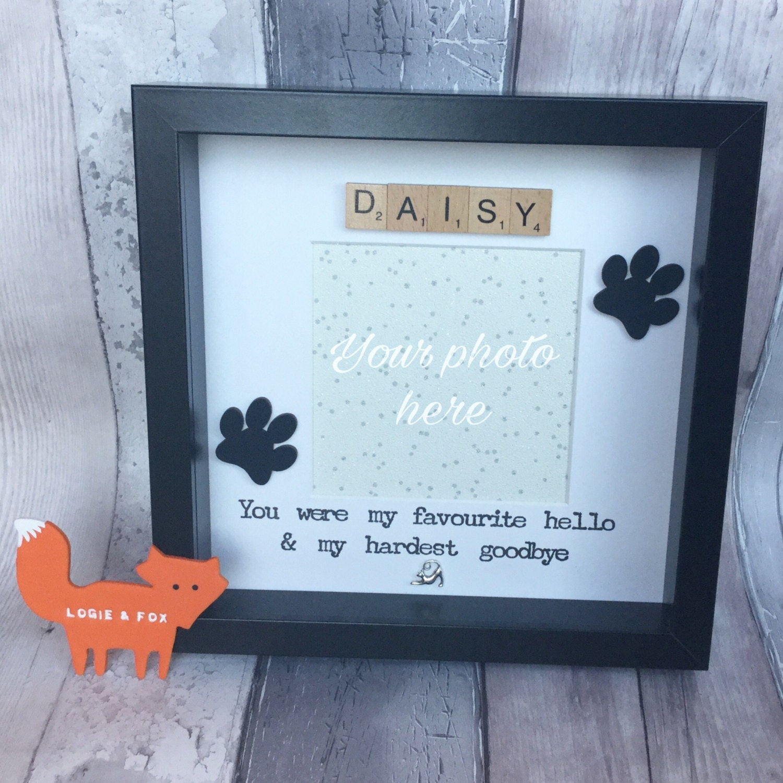 personalised cat memorial cat photo frame paw prints handmade cat cat memorial gift in loving memory cat cat frame rip cat gift