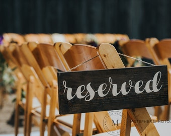 Reserved wood wedding signs
