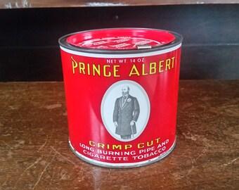 Prince Albert Tin, Vintage tobacco tin, Prince Albert in a Can, Prince Albert tin 14 oz