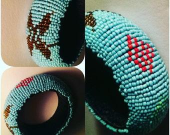 Chunky Beaded Blue Bracelet