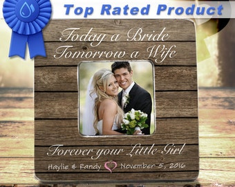 Wedding Gifts For Parents Mother Of The Bride Gift Mother Of The Groom Gift Today A Bride Tomorrow A Wife Forever Your Little Girl Frame