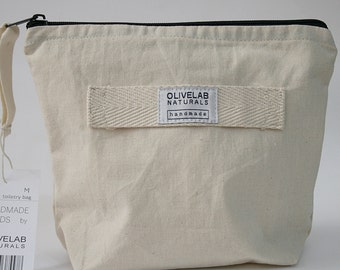 soft canvas toiletry bag