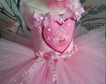 Pink peppa pig tutu princess dress