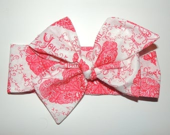 Valentines Day Wrap, Bow Head Wrap