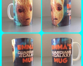 mug cup guardians of the galaxy i am groot baby star-lord drax gamora rocket :)