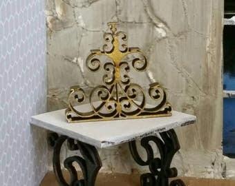 Miniature dollhouse wrought iron style candelabra 1:12 scale