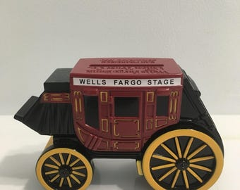 Wells Fargo stagecoach die cast collectible bank