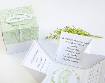 Pop Up Wedding Invitations - Unique Invitations - Elegant Wedding Invitations - Wedding Invitations - Wedding Invites - Box Invitation