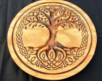Celtic Tree of Life;Norse art;Life symbol;Celtic knot symbol;Tree plaque;Irish Pub Decor