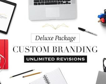 Custom Logo Design and Business Branding Package - Deluxe Package - Logo Design - Custom Marketing Set - Photography Branding Package