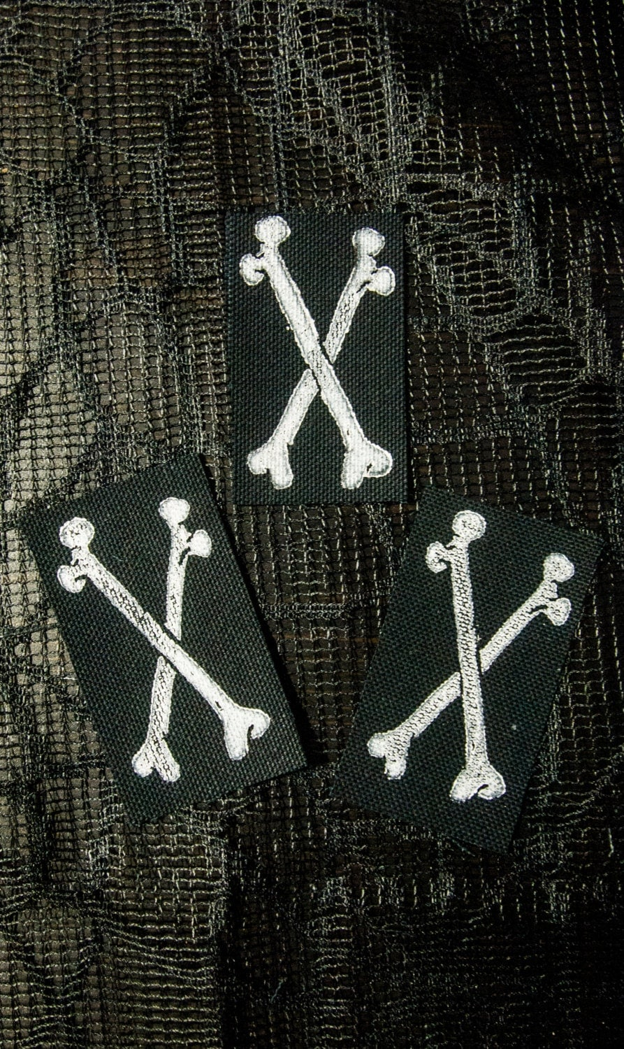 Tiny Cross Bones Patch