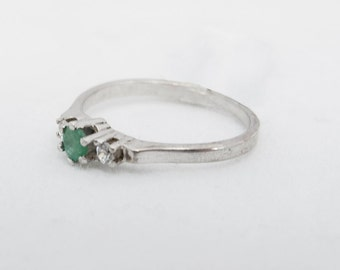 Emerald and Rock Crystal ring