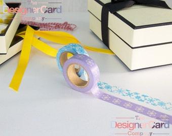 Mixed Pack Christmas Snowflake Design Washi Tape Masking Tape Snow