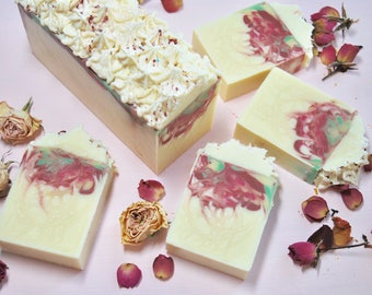 Baby Rose Soap, All Natural Soap Bar, Cold Process Soap, Beautiful Gift Soap, Vegan Soap, Artisan Soap, Pink Ivory Soap, Spa Gift for Her