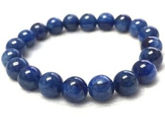 7MM Kyanite Bracelet , Beautiful Blue Bracelet, Natural Kyanite, Gemstone bracelet