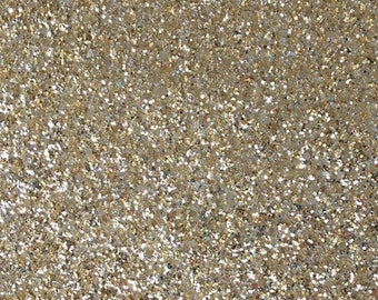 Textured Glitter Fabric Material - Gold Silver - Treasured