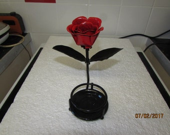 handmade metal rose