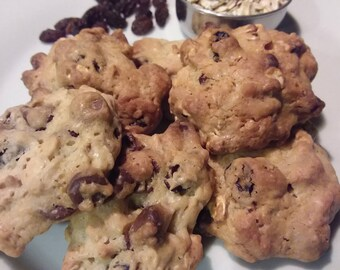 Homemade Chocolate Chip Oatmeal Raisin Cookies - 36 Cookies