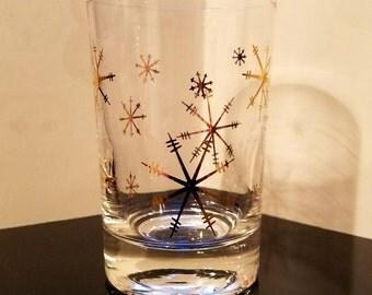 Vintage Snowflake Tumbler Glasses