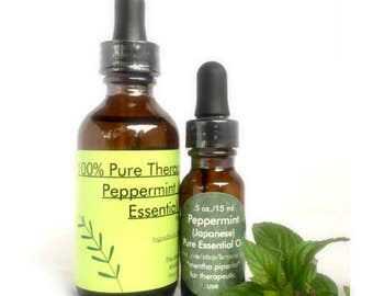 Peppermint, Japanese, therapeutic essential oil, 15ml or 60ml