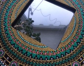 Modern wall mirror, art deco wall mirror, gift for her, modern mirror art, wall mirror, wall mirrors, livingroom decor, modern mirror