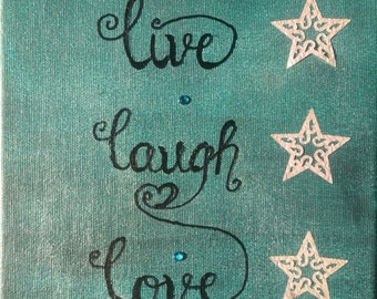 "Canvas ""live laugh love"""