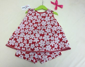 Little Girls Reversible Dress and Modesty Shorts