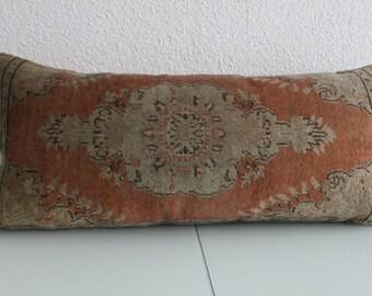 """16""""x36"""" lumbar pillow cover coussin tribal 40x90 cm carpet pillow throw long carpet lumbar 16x36  handmade carpet lumbar pillow cover 10"""