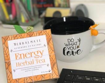 Energy Herbal Tea / Natural Energizer / 25 Tea Bags