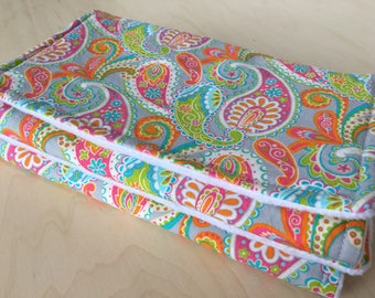 Burp cloth with flannel lining. Burp cloth with minky back. Girl burp cloth. Baby shower gift.