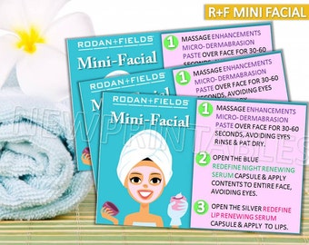 Mini facial card | Etsy
