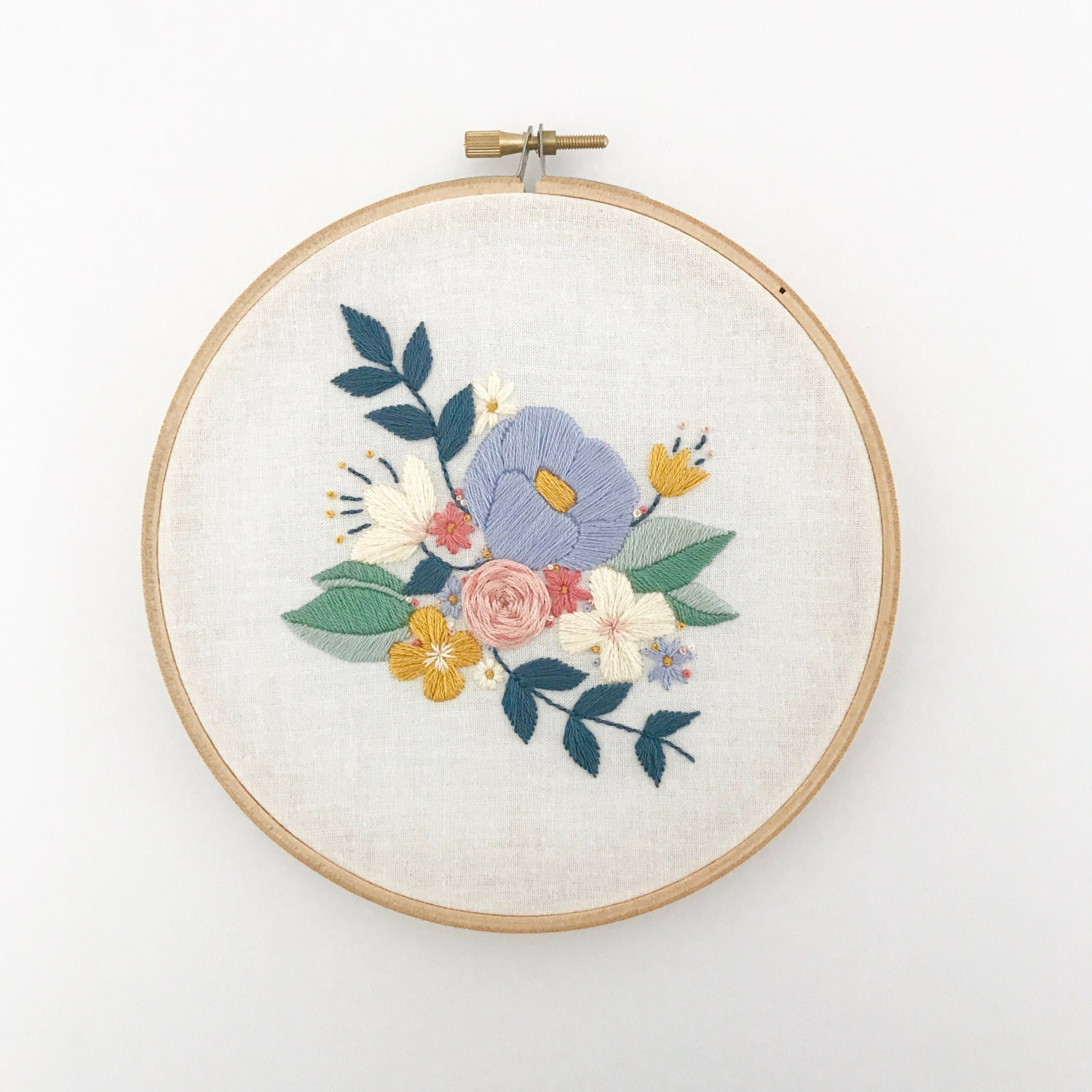 Floral spray pdf embroidery pattern digital download