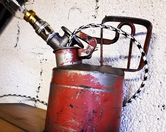 Slingsby Red Metal Gas Can Lamp
