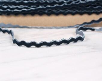 5 m 6mm, polyester, grey-blue ribbon dark, (4678)
