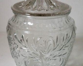 Anchor Hocking Sandwich Glass Clear Cookie Jar