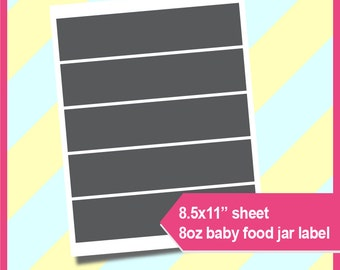 Baby food jar labels etsy for Baby food jar label template