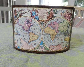 Leather Letter Box with Map