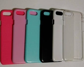 iPhone 7 Blank Case for DIY Phone Case in Hot Pink, Pink, Blue, Black, Wihte, Clear plain phone case