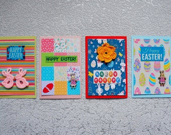 Easter bunny card for her Blank cards set Easter gifts Rabbit card Kids easter gift Grandma card Easter greeting card Happy Easter card set